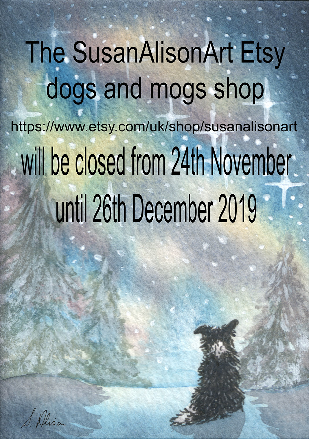 closed shop 2019 starry night